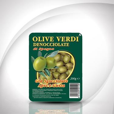 Olive verdi denocciolate in vaschetta Antico Casale