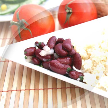 Cous cous con verdure e legumi