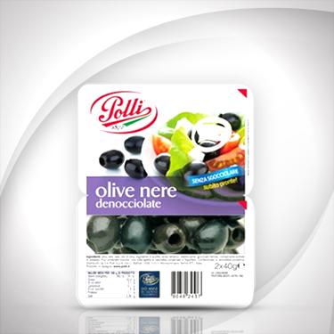 Olive nere denocciolate in vaschetta Polli