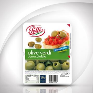 Olive verdi denocciolate in vaschetta Polli