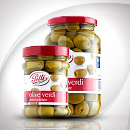 Olive verdi denocciolate Polli