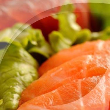 Salmone tonno in insalata